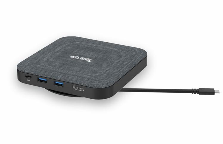 D1032C: USB3.2 Gen1 5Gbps Type-C to HDMI(4K@30Hz)+ 2*USB3.0 HUB + SATA6G + PD100W