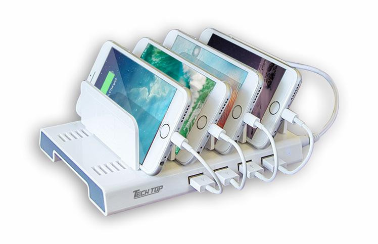 Y-2187A: 36W, 4-Port USB Smart Charging Station