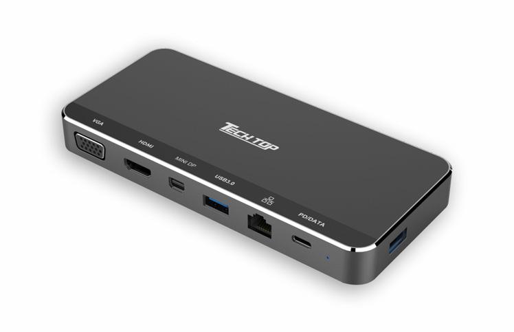 Z-DK09015: USB3.1 Gen1 Type-C Multi-port Hub with MST